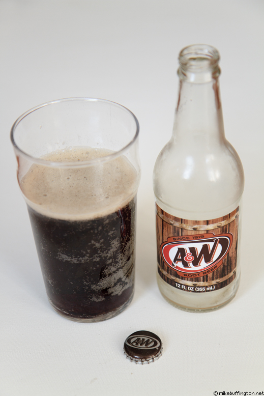 A&W Root Beer Poured