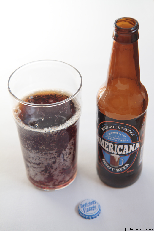 Americana Root Beer Poured