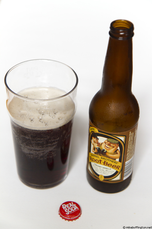 Barrel Brothers Root Beer Creamy Vanilla Poured
