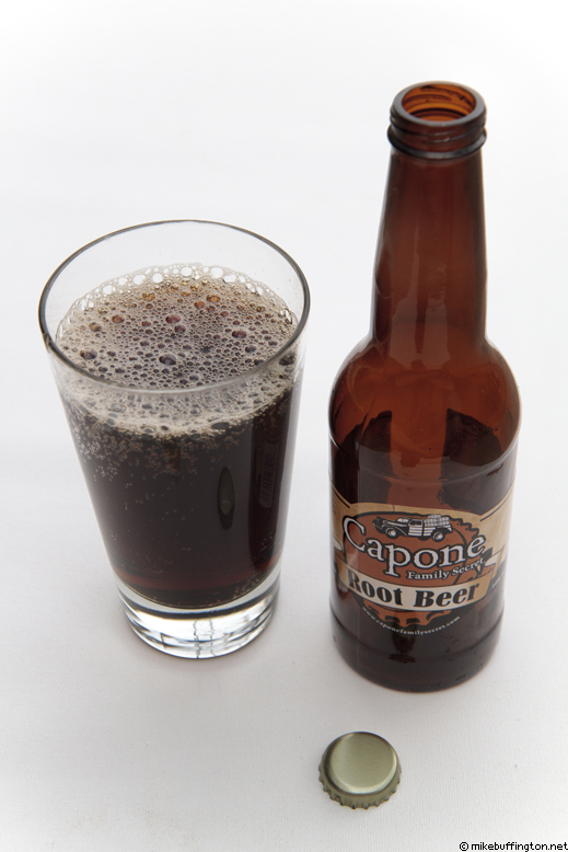 Capone Family Secret Root Beer Poured