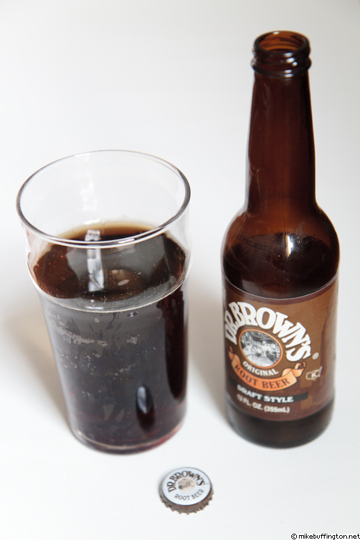 Dr Brown's Original Root Beer Poured