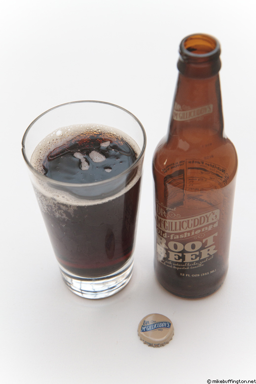 Dr. McGillicuddy's Old-fashioned Root Beer Poured