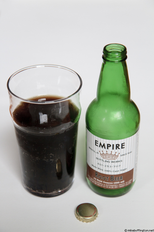 Empire Bottling Works Root Beer Poured
