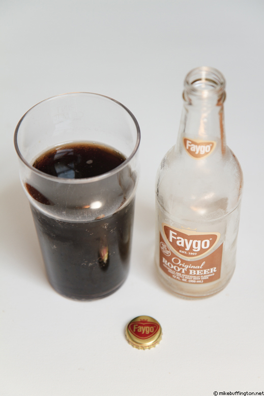 Faygo Original Root Beer Poured