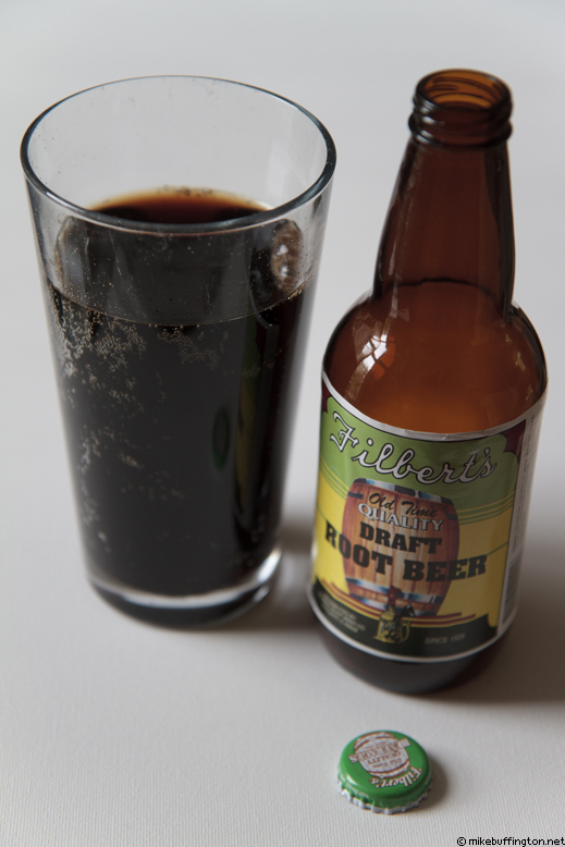 Filbert's Old Time Quality Draft Root Beer Poured
