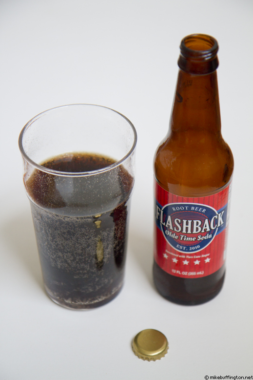 Flashback Olde Time Soda Root Beer Poured