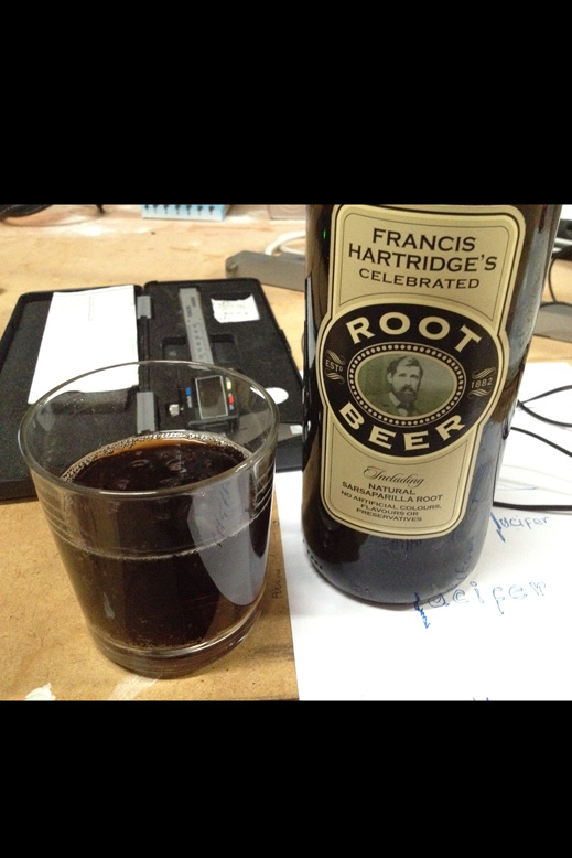 Francis Hartridge's Celebrated Root Beer (Big Bottle) Poured