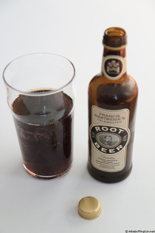 Francis Hartridge's Celebrated Root Beer Poured