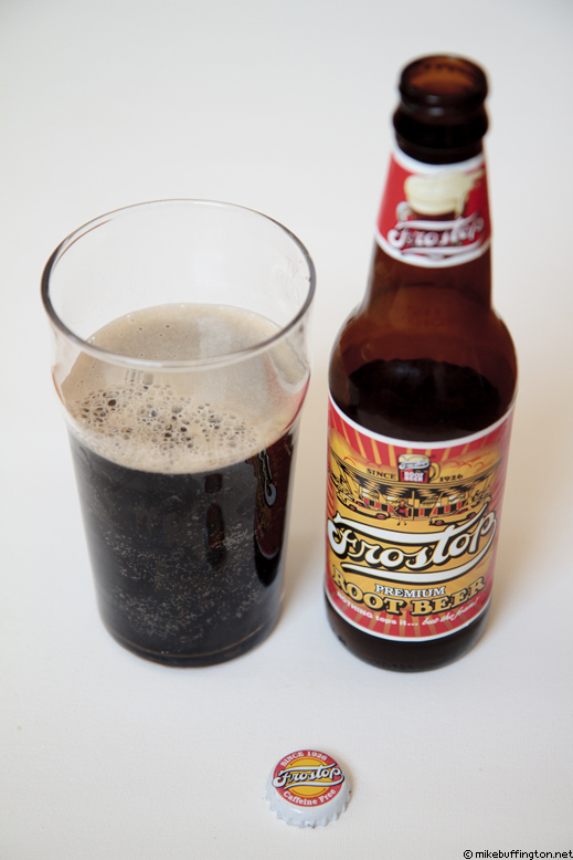 Frostop Root Beer Poured