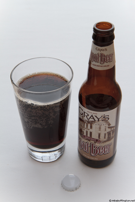 Gray's Root Beer Poured