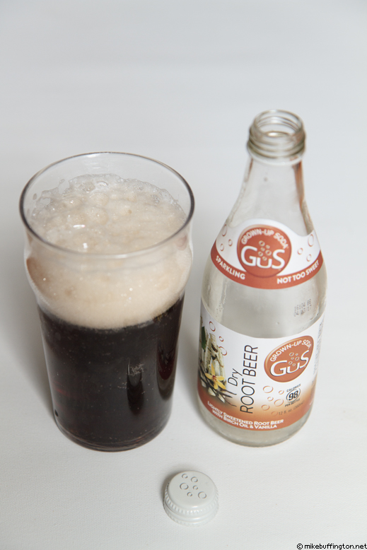 Grown-Up Soda Dry Root Beer Poured