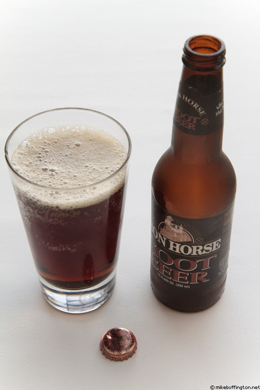 Iron Horse Premium Root Beer Poured