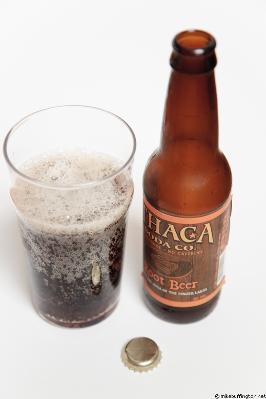 Ithaca Soda Co. Root Beer Poured