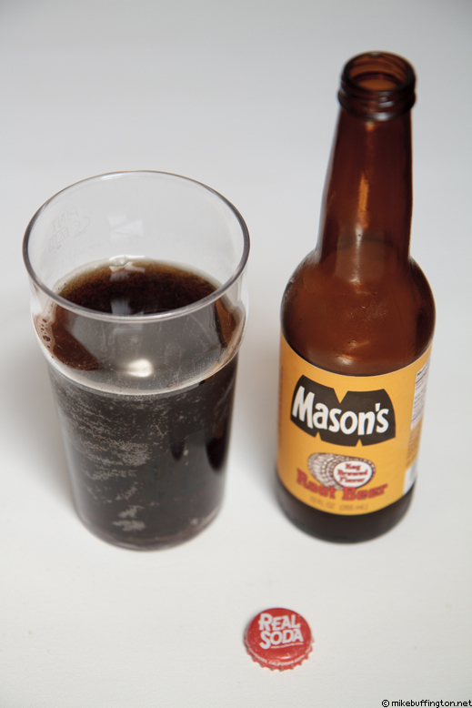 Mason's Keg Brewed Flavor Root Beer Poured