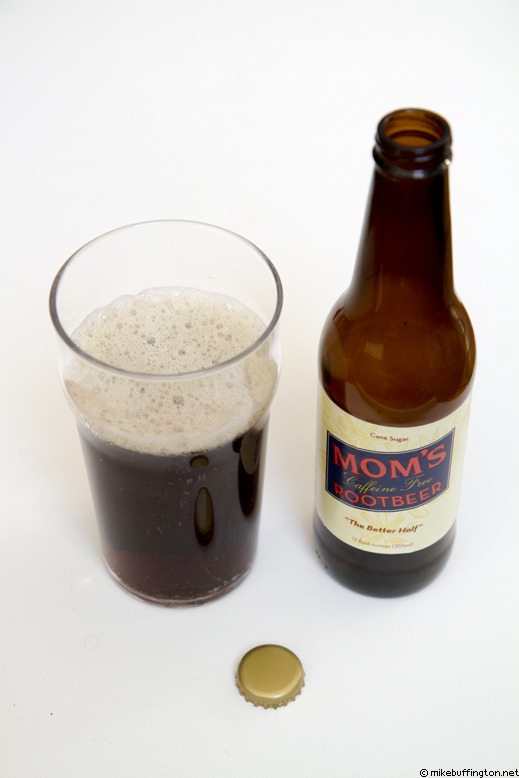 Mom's Caffeine Free Rootbeer Poured