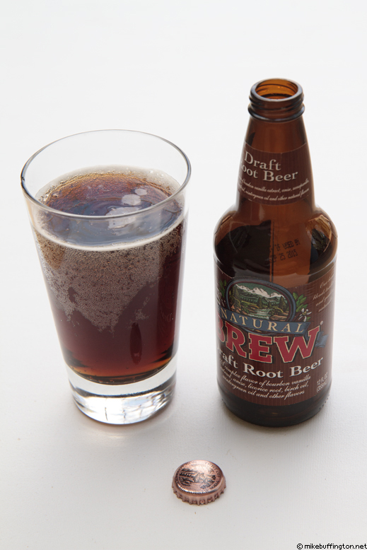 Natural Brew Draft Root Beer Poured