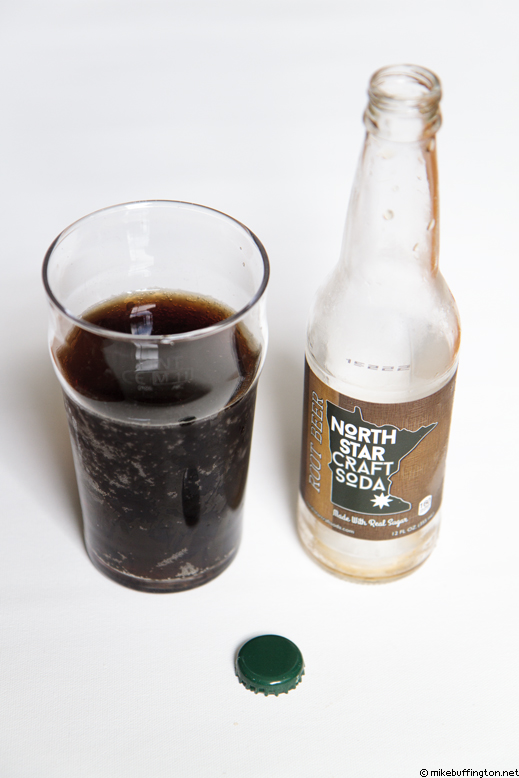 North Star Root Beer Poured