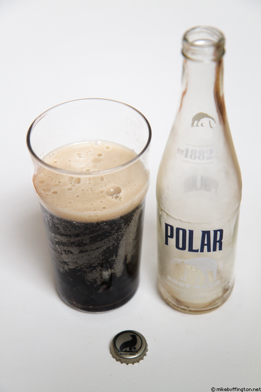 Polar Root Beer Poured