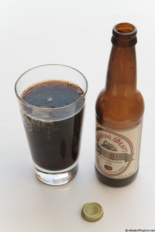 Reading Draft Root Beer Poured