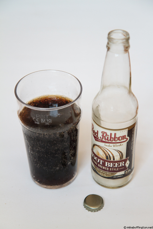 Red Ribbon Root Beer Poured