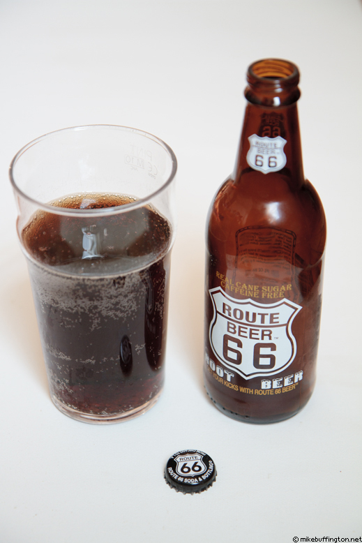 Route 66 Beer Root Beer Poured