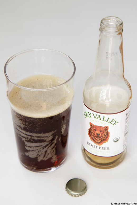 Sky Valley Organic Root Beer Poured