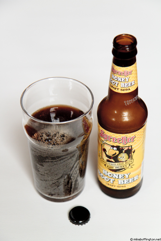 Sprecher Honey Root Beer Craft Soda Poured