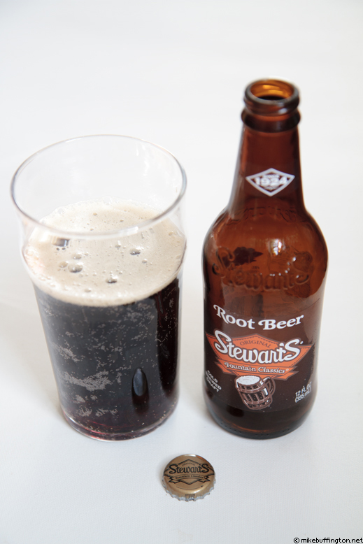 Stewart's Fountain Classics Original Root Beer Poured