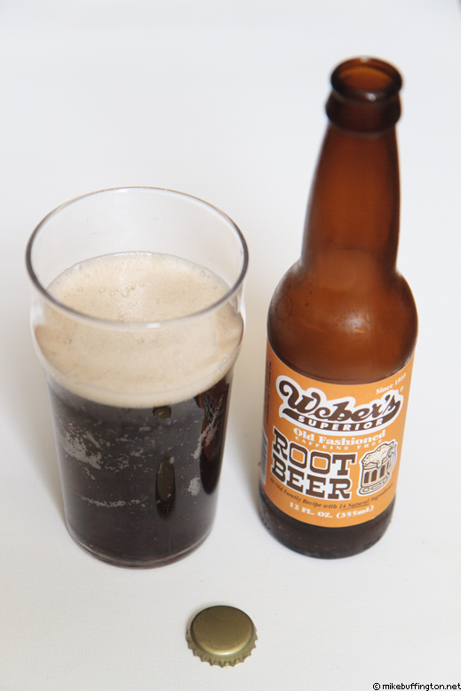 Weber's Superior Root Beer Poured