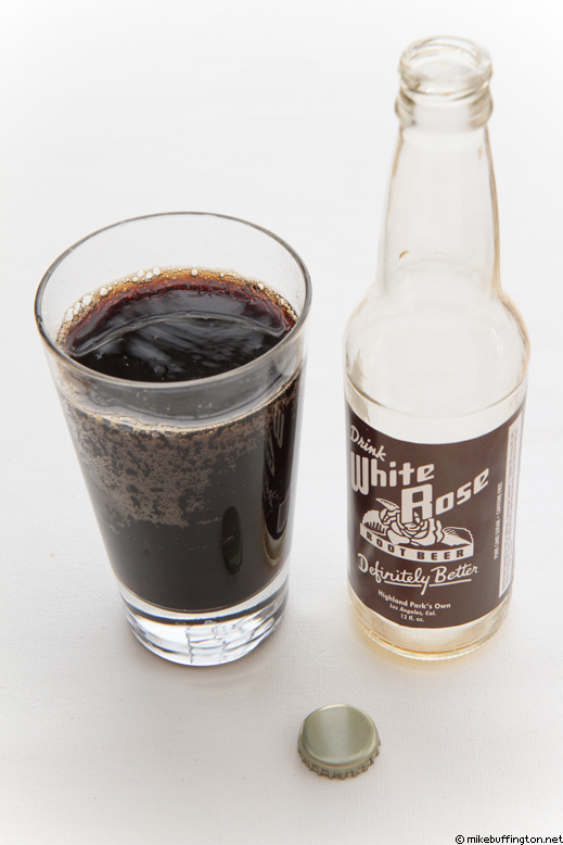 White Rose Springs Root Beer Soda Poured