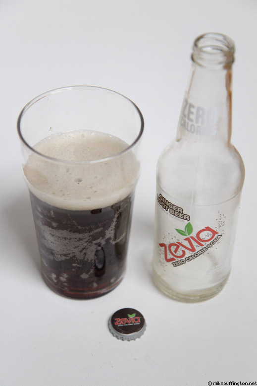 Zevia Ginger Root Beer Poured